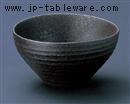 炭化黒荒土楕円鉢(大)