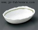 緑ライン小判型小鉢(大)