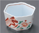 花鳥六角小鉢