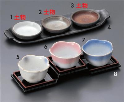 三ツ組小皿(白)