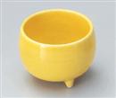 黄釉丸三ッ足珍味