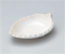 白釉木の葉珍味皿