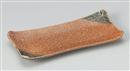 鉄砂淵折長角焼物皿