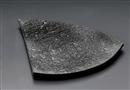 黒碧三角変形盛皿