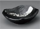 黒炭白刷毛大鉢