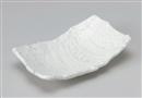 粉引彫刻尺寸盛皿