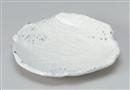 粉引彫刻変形8.5皿
