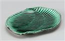 緑釉黄流筋彫変型7.0皿