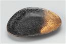 金吹黒結晶三角皿