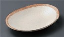 渕荒横彫楕円皿
