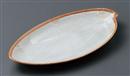 伊賀化粧花型長皿