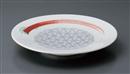 薄墨麻葉赤絵8.0皿