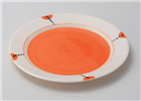 ニューボンドットオレンジ10吋皿