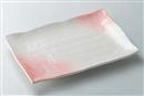 ピンク吹き12号長角皿