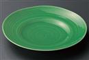 緑釉櫛目9.0皿