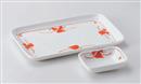 赤絵小花8.0焼物皿