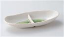 粉引グリーン仕切り長盛鉢
