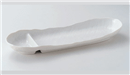 白釉舟型仕切長皿
