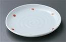 青磁紅玉たわみ6.0皿