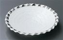 白結晶プラチナ彩波型フルーツ皿