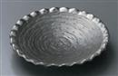 黒マットプラチナ彩波型フルーツ皿