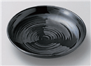 風車(黒)16.5cm皿