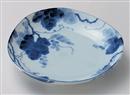 藍染ぶどう三角5.0皿