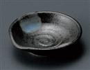 白吹黒水晶片口豆皿