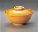 黄釉彩 蓋物