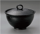 黒陶煮物碗
