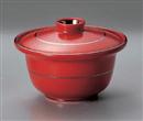 セレン赤円菓子碗