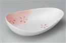 ラスター花ちらし変型楕円鉢
