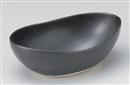 黒マット20.5変形鉢