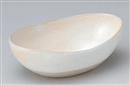 粉引20.5変形鉢