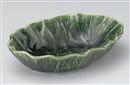 織部手折楕円盛鉢