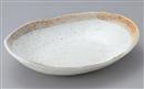 茶筋粉引小判鉢