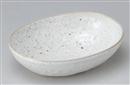 鉄粉引亀甲鉢