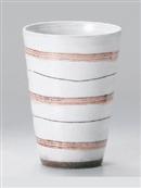 彫筋(ピンク)フリーカップ