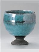 トルコ釉ワインカップ