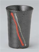 黒釉赤一珍フリーカップ