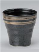 黒釉ラインフリーカップ