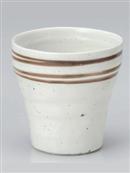 白釉ラインフリーカップ