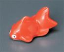 赤金魚箸置