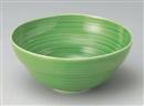 緑釉櫛目大鉢
