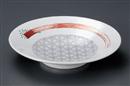 薄墨麻葉赤絵9.5麺鉢