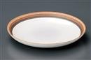 粉引三色リング丸皿(大)