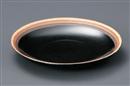 黒三色リング丸皿(大)