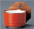 赤釉内白飯器(蓋別売)