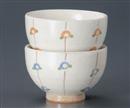 小椿ピンク茶碗