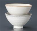 二色十草(赤)削り型茶碗